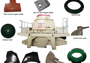 VSI crusher wearing part list