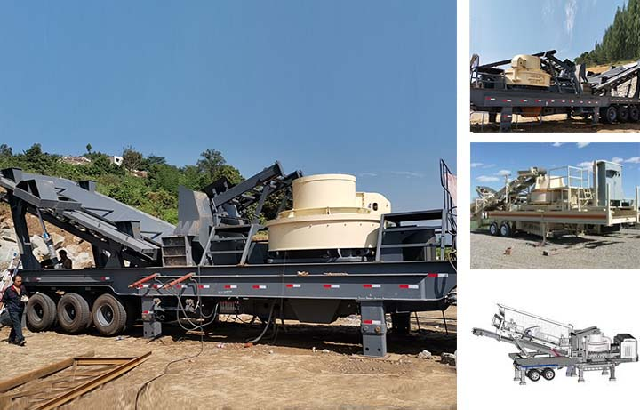 Mobile VSI sand making plant